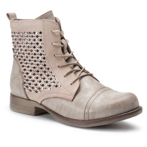 c742c21fced5 vysoká šnurovacia topánka DeeZee WS998-01 ružová Dámske - Topánky ...