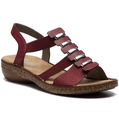 58645c9211ec sandále Rieker 62850-35 bordó Dámske - Topánky - Sandále - https ...