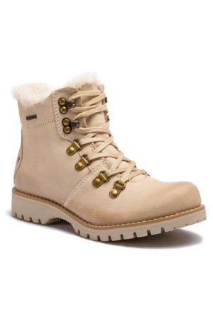 šněrovací bota vysoká Lasocki WI16-218169 krémová a3af0854a9
