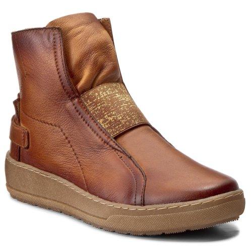 Bokacipő Quazi DELEKTA 06 CAMEL Női Cipők Bokacsizmák
