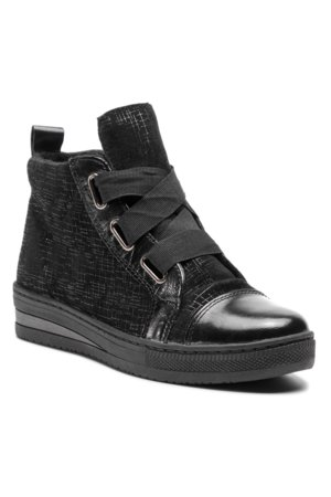 šněrovací bota vysoká Lasocki ARC-VOLTEA-01 černá 26b452a7363