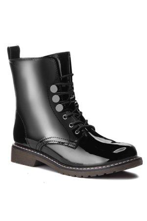 šněrovací bota vysoká Jenny Fairy WYL1621-3 černá d4114d0685