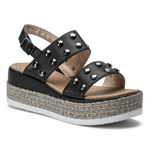 nagyszeru kinézet fél áron stabil minőség Szandál Jenny Fairy WS19013-02 FEKETE Női - Cipők - Szandálok ...