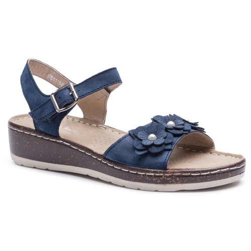 d003baeeba sandále Clara Barson WS5188-01 tmavomodrá Dámske - Topánky - Sandále ...