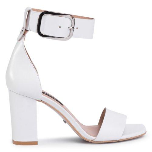 Sandały Gino Rossi DNI978 SUI Biały Damskie Buty Sandały