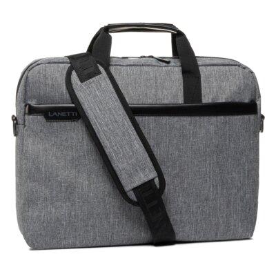 Levně Pánské tašky Lanetti BMM-S-019-00-03 Textilní materiál