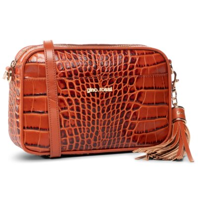 Levně Dámské kabelky Gino Rossi CROCO 0004-LIB Přírodní kůže - Lícová