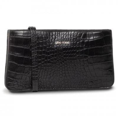Levně Dámské kabelky Gino Rossi CROCO 0001-LIB Přírodní kůže - Lícová