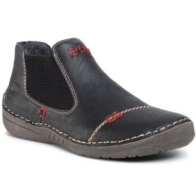 Levně Kotníkové boty Rieker 52590-01 Imitace kůže/-Ekologická kůže