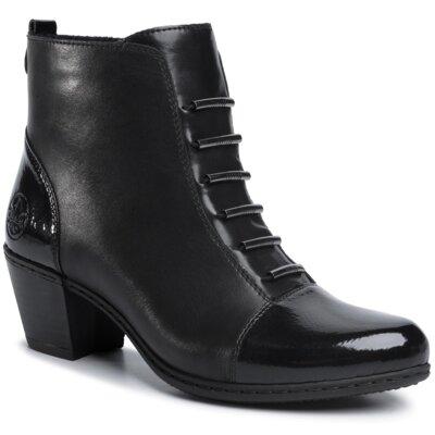 Levně Kotníkové boty Rieker Y2162-00 Přírodní kůže (useň) - Lícová