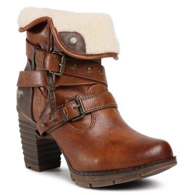 Levně Kotníkové boty Mustang 1292-602 Imitace kůže/-Ekologická kůže