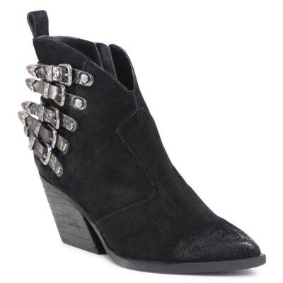 Levně Kotníkové boty Gino Rossi Premium V398-412-2 Přírodní kůže (useň) - Semiš