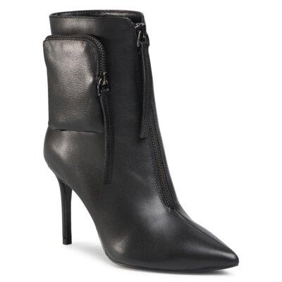 Levně Kotníkové boty Gino Rossi Premium V369-121-1 Přírodní kůže (useň) - Lícová