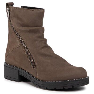 Levně Kotníkové boty Sergio Bardi WI16-DANA-06E Přírodní kůže (useň) - Nubuk