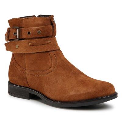 Levně Kotníkové boty Sergio Bardi WI16-S709-01 Přírodní kůže (useň) - Semiš