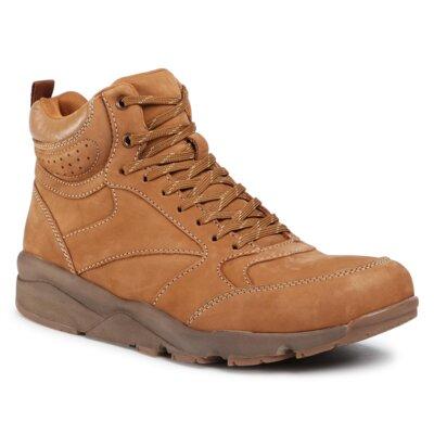 Levně Šněrovací obuv Sergio Bardi MI07-B10-A839-02 Přírodní kůže (useň) - Nubuk