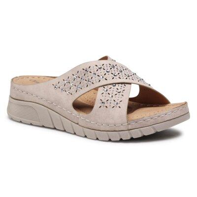 Levně Pantofle Clara Barson WS8054-02 Ekologická kůže /-Ekologická kůže