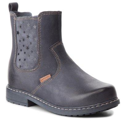 Kotníkové boty Lasocki Kids CI12-SAMU-35(III)DZ Přírodní kůže - nubuk,Pravá kůže - lesklá kůže,Přírodní kůže - semiš,Přírodní kůže - lícová