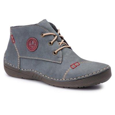 Členkové topánky Rieker 52540-14 nubuk